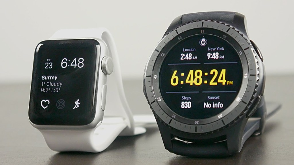 Compare Apple Watch Series 3 vs Samsung Gear S3 frontier