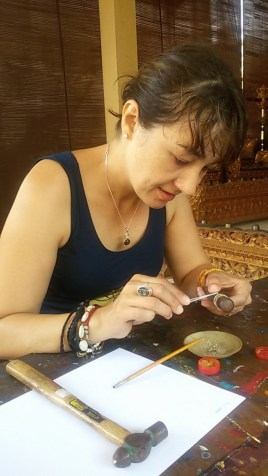 I love learning new things constantly . Here I was making my own ring in Bali