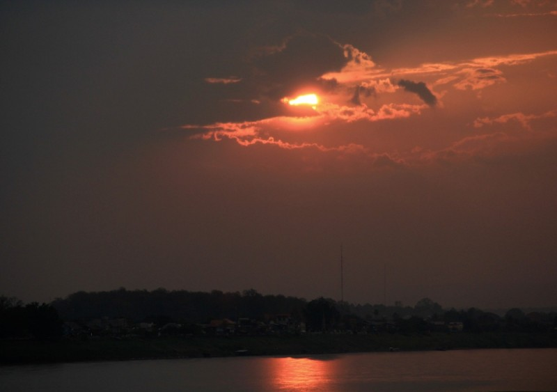 Sunset over Mekong