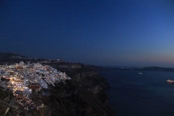 Fira by night, Santorini