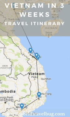 An itinerary suitable for everyone and including some of the best locations and how long to spend in each of them #vietnam #travelitinerary #vietnamitinerary #southeastasia