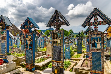 Merry Cemetery blue crosses
