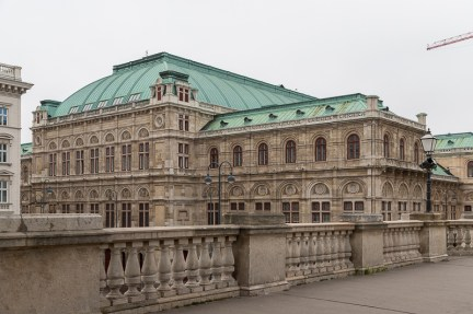 Opera house seen from the rooftop of Albertina museum