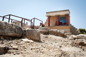 Heraklion, Knossos, Charging Bull fresco - @World Travel Mama