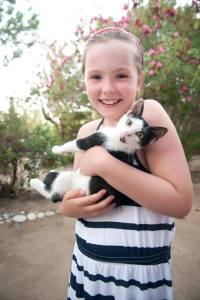 Rethymno, Camping Elizabeth kitten - @World Travel Mama