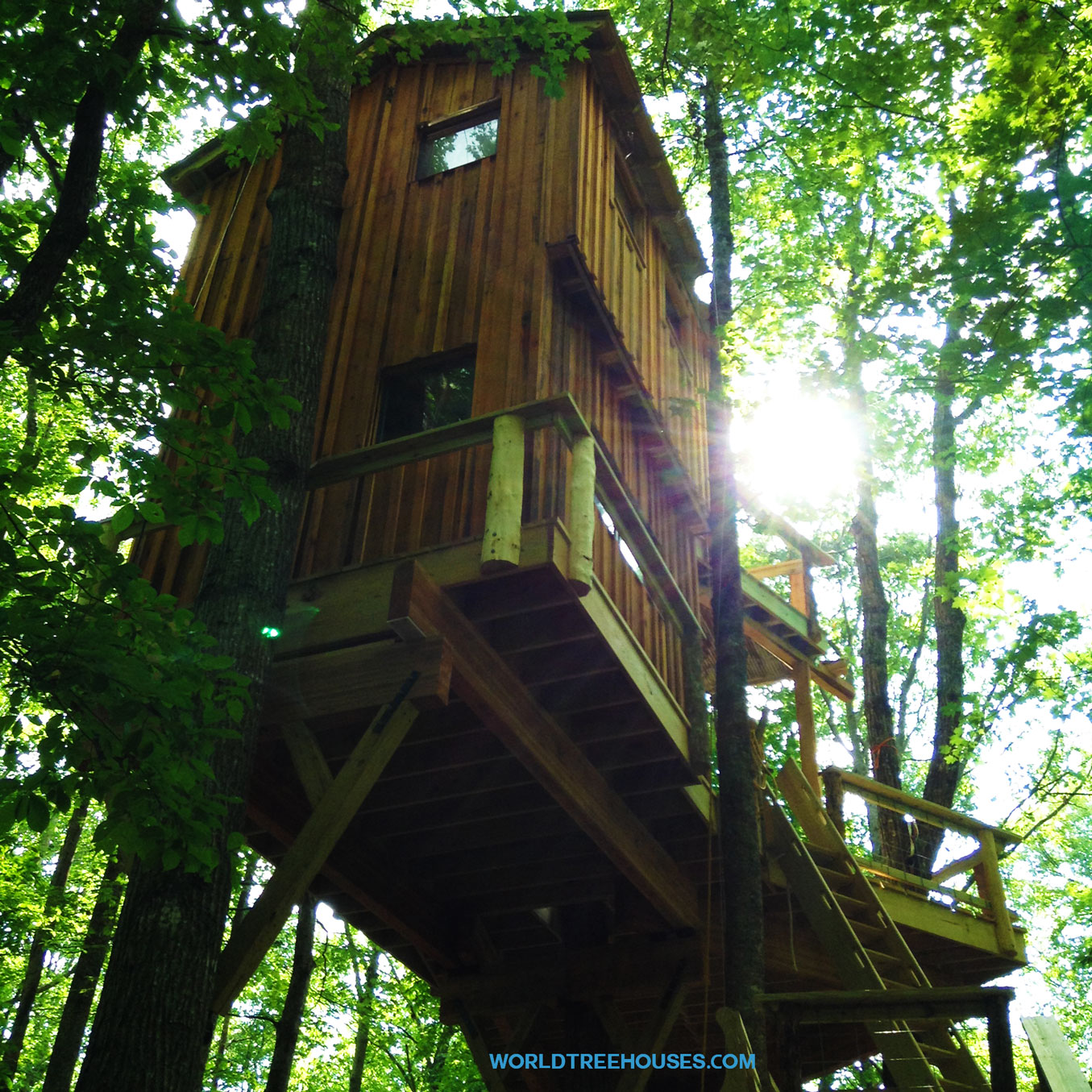 world treehouse brevard asheville - Biggest Treehouse In The World 2016