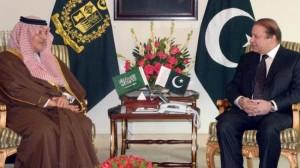 Pakistani Prime Minister Nawaz Sharif meets with Saudi Foreign Minister Saud al-Faisal, Islamabad on Jan. 8.