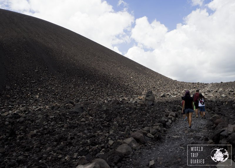 We climbed Cerro Negro, the volcano, with our kids. We didn't do the volcano boarding but it was still fun and a great day out in Leon, Nicaragua.