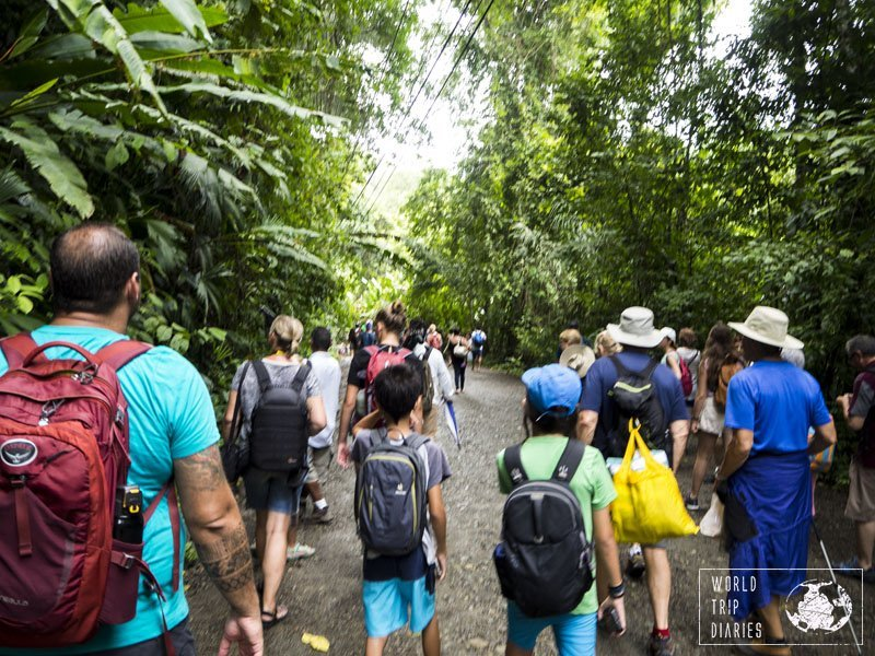 Manuel Antonio National Park is almost always full and it's worth the visit! We found all the animals we wanted to see there. Great fun for the kids!