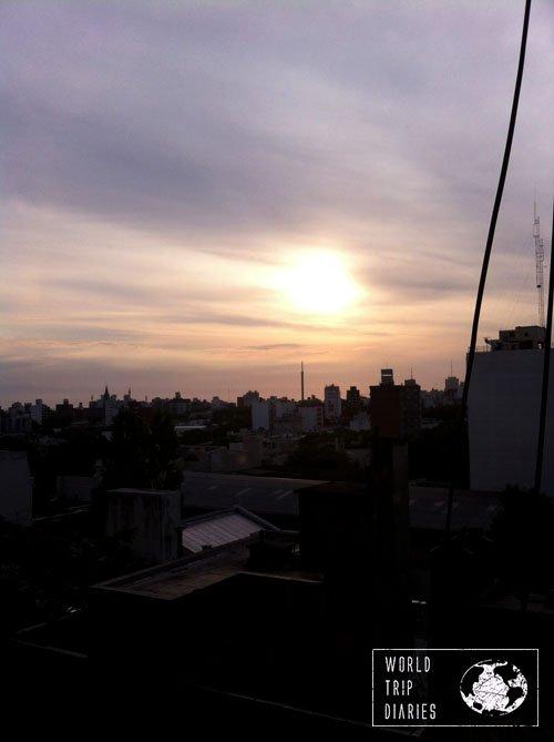 sunset montevideo uruguay