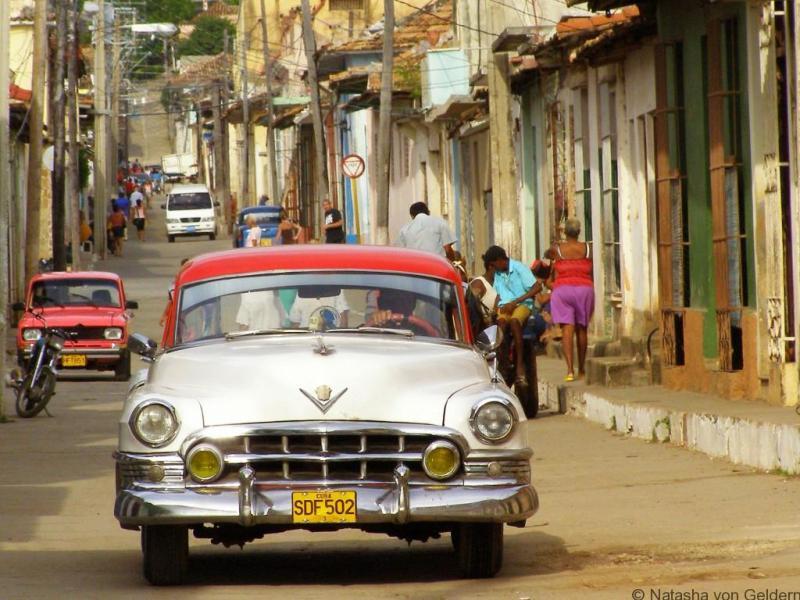 Street scene in Trinidad