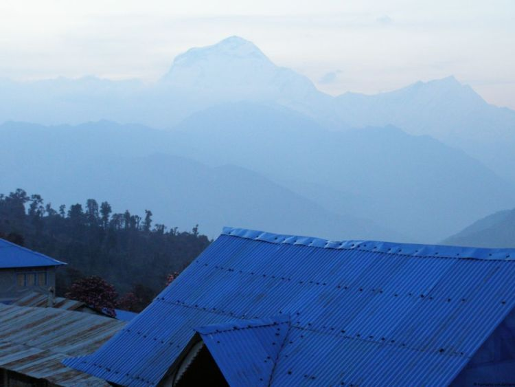 Annapurna trek sunset, Nepal