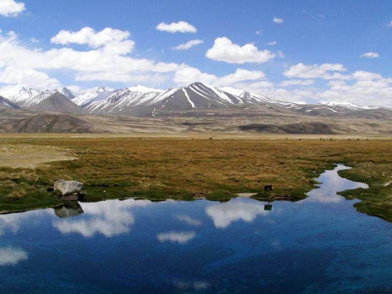 Tajikistan lake on the Pamir Highway travel road trip