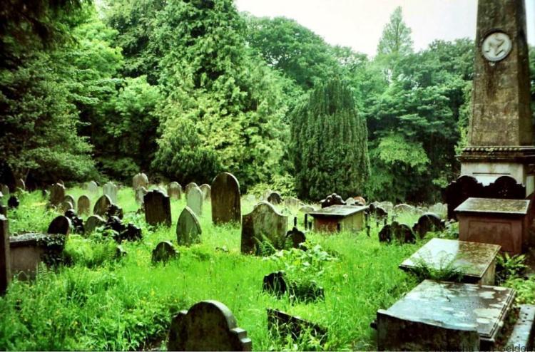 Bradden churchyard Three Legs of Man