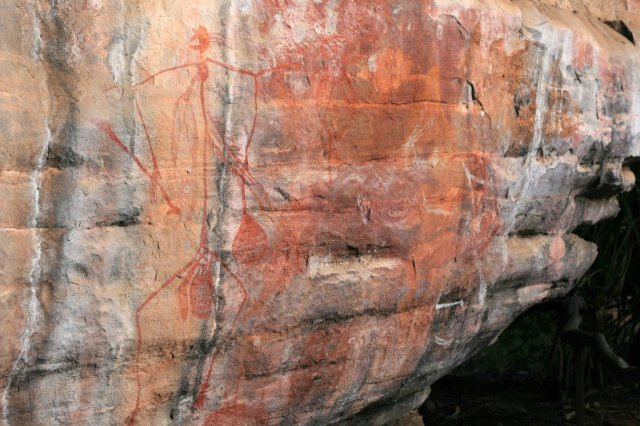 Aboriginal rock art, Kakadu National Park, NT, Australia