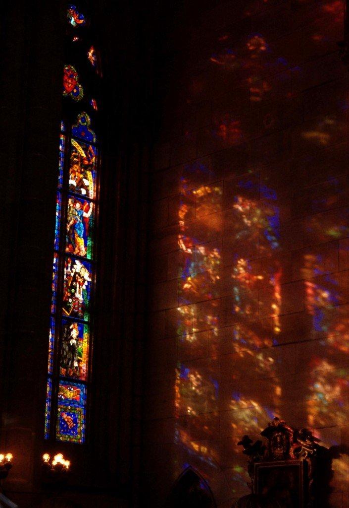 Reflected light, Prague, Czech Republic