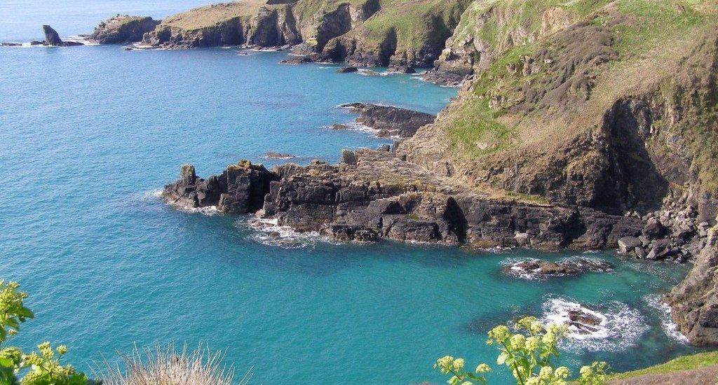 Cornwall sea cliffs