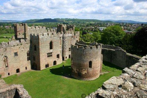 Ludlow castle in Shropshire