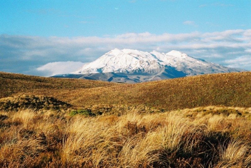 Mt Ruapehu from the Tongariro Crossing, New Zealand