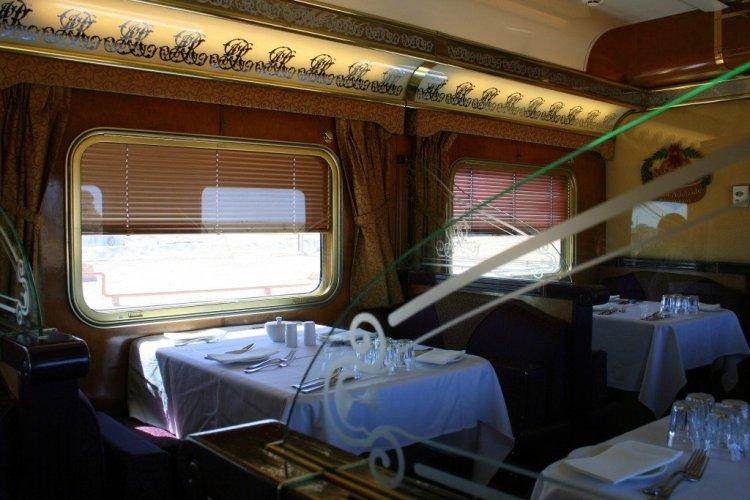 Indian Pacific rail journey - restaurant car