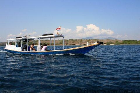 Dive boat Menjangan Island, West Bali National Park