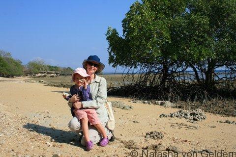 Natasha von Geldern and daughter in Bali, Indonesia