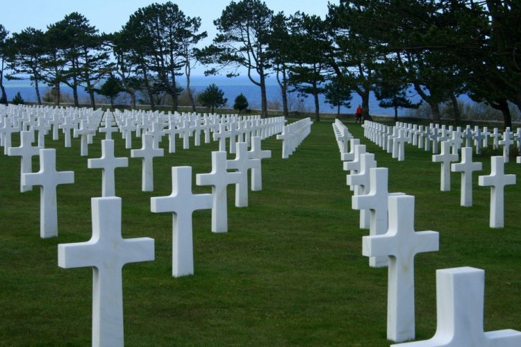 Colleville-sur-Mer WW2 cemetery, Normandy, France