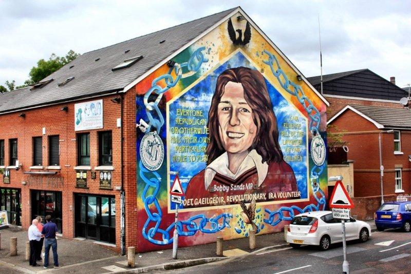 Nationalist mural in Belfast, Northern Ireland