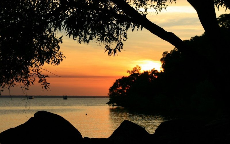 Darwin waterfront sunset, Australia