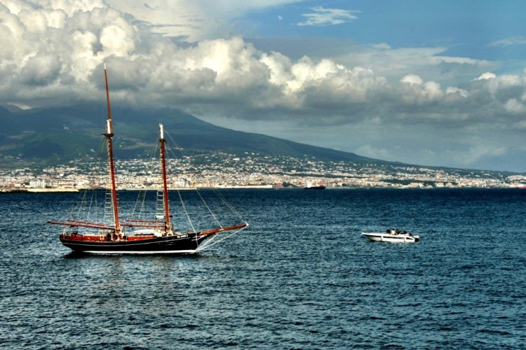 The Bay of Naples and Vesuvius