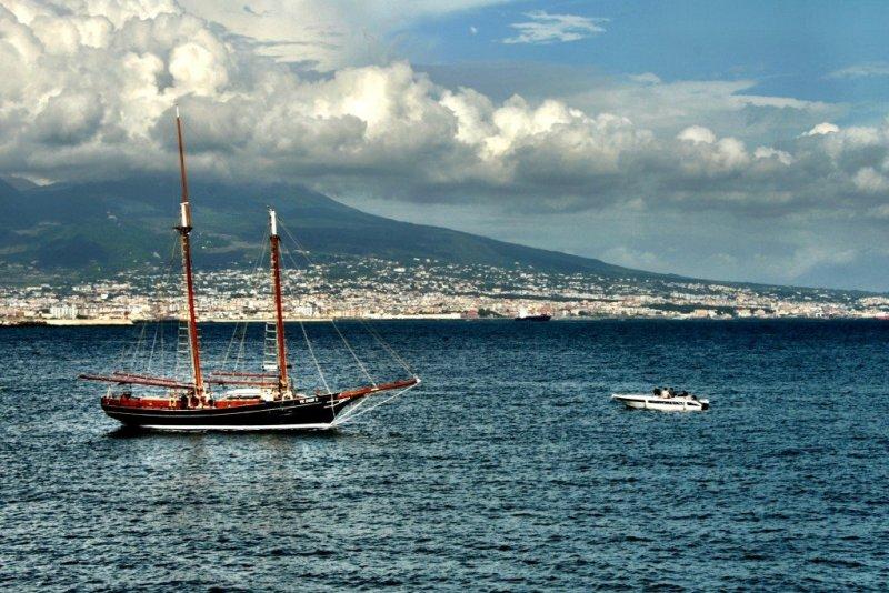 The Bay of Naples and Vesuvius