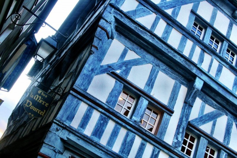 Dinan houses Brittany France
