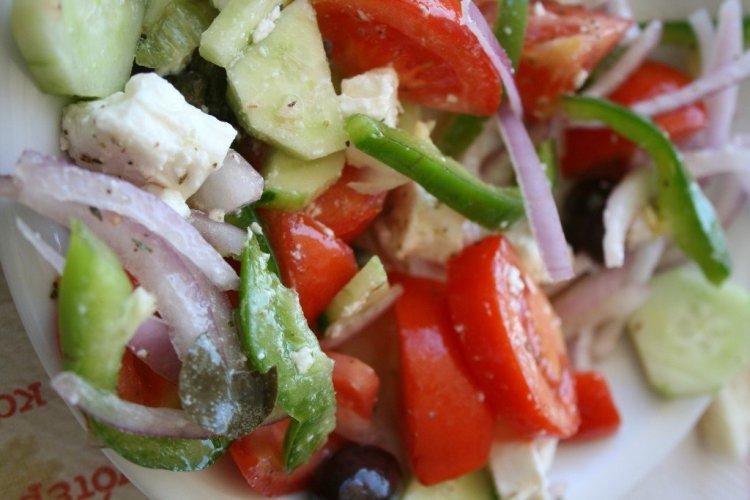 Greek Salad on Santorini