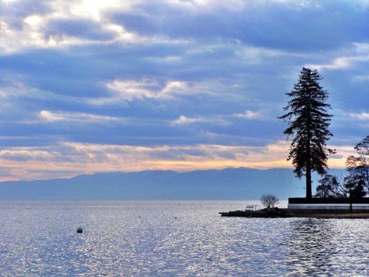 Lake Geneva view Switzerland