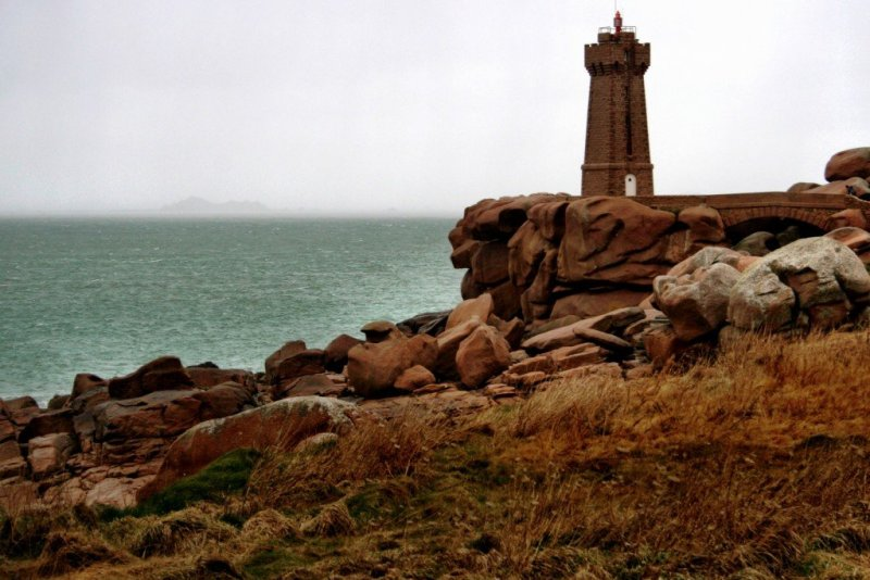 Lighthouse on Brittany Pink Granite Coast