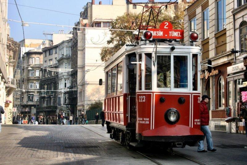 Trams on Istikal Caddesi, Istanbul