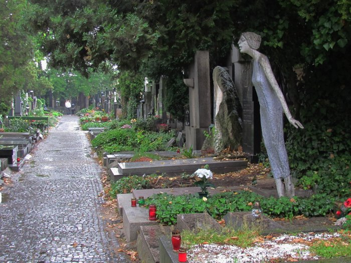 Vysehrad cemetery in Prague
