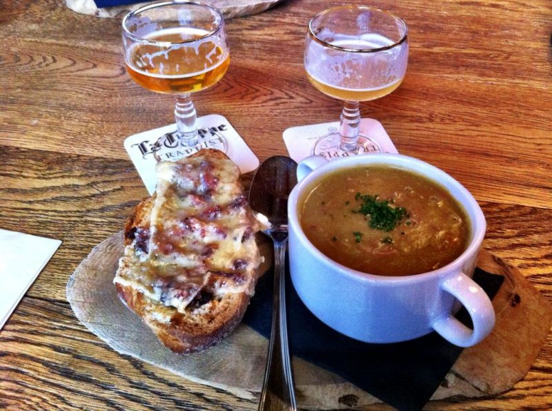Food at the Abbey de Koningshoeven, La Trappe brewery Netherlands