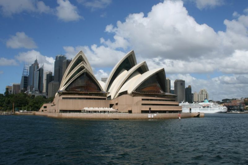 Sydney Opera House and harbour, Australia