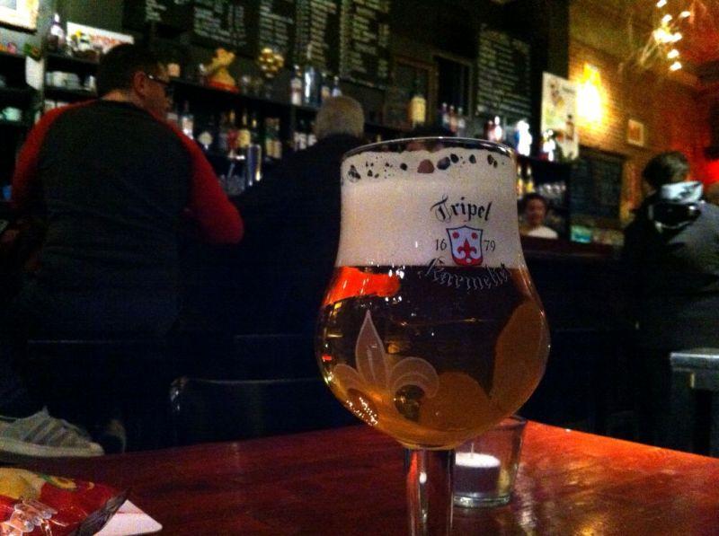 Belgium beer in Antwerp bar - Draakplaats, Zurenborg