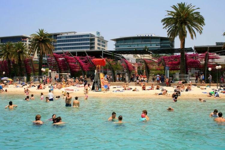 South Bank beach in Brisbane