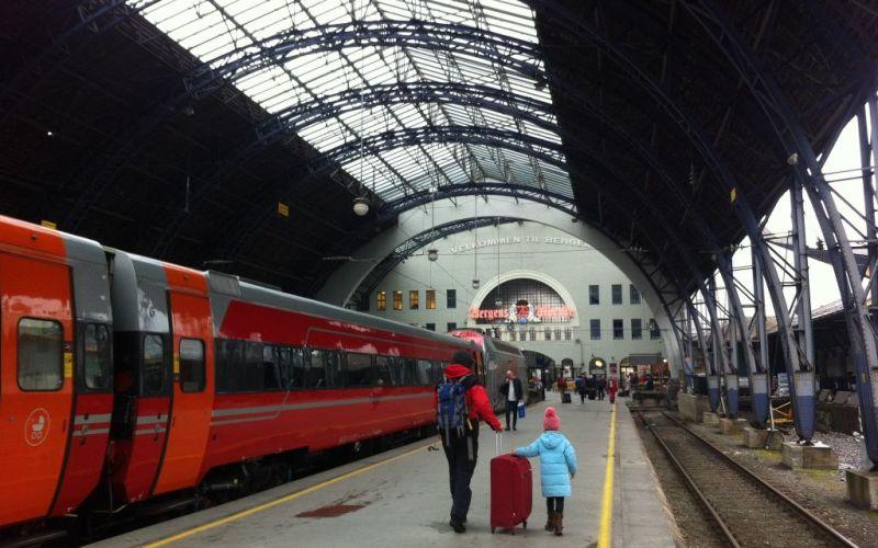Bergen station - Oslo to Bergen train, Norway