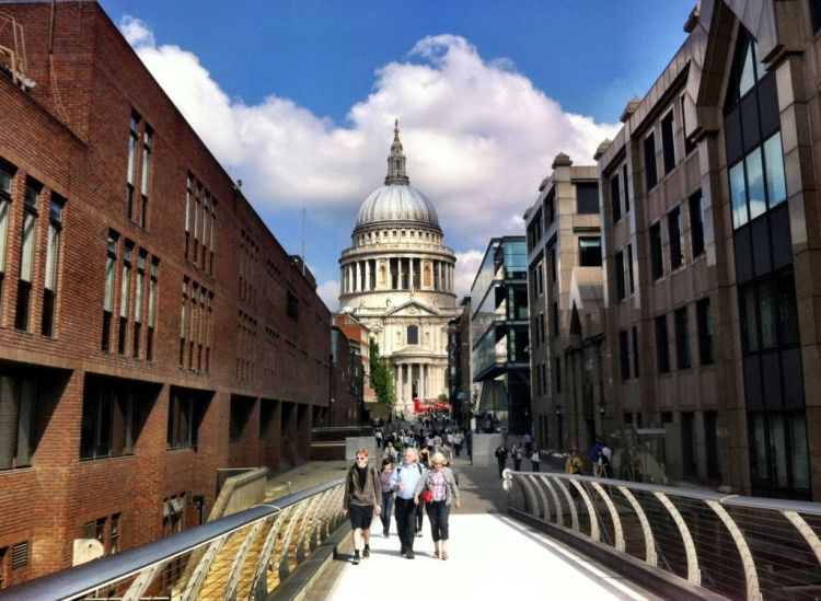 St Pauls from Millenium Bridge, London