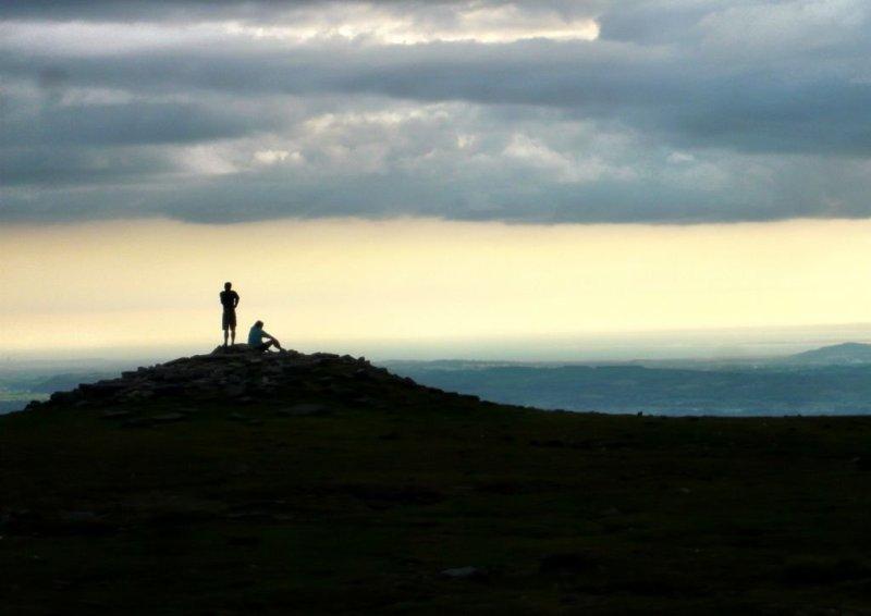 Summit of Whernside, Yorkshire 3 Peaks