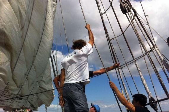 On board the Leao Hollandes, Lisbon