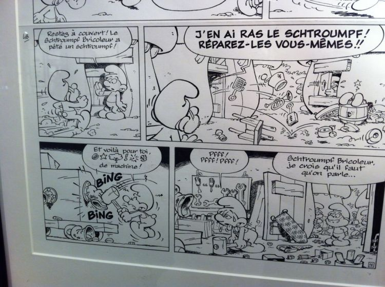 The Smurfs at the Comic Arts Museum, Brussels