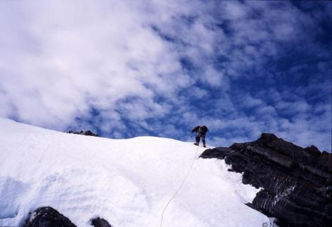 Climbing above Franz Josef Glacier New Zealand