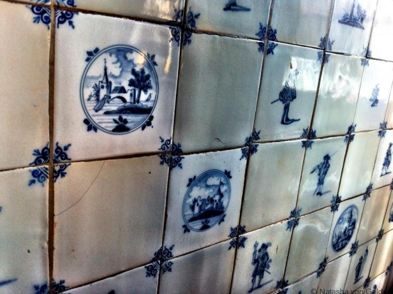 Dutch tiles in Cafe Papeneilland in Amsterdam