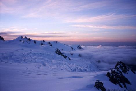 Franz Josef neve sunset New Zealand