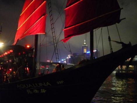 Aqua Luna cruise on Hong Kong harbour